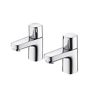 Ideal Standard Tempo Basin Pillar Taps Chrome