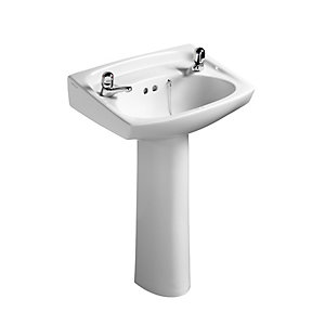 Armitage Shanks Royalex Wash Basin 2 Tap Holes 560 x 410 mm S217001