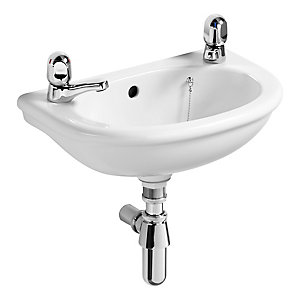 Armitage Shanks Sandringham Dorex Wash Basin 2 Tap Holes 450 mm S270701