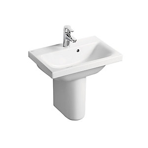 Concept Space 500 x 380mm Basin White 1 Tap Hole