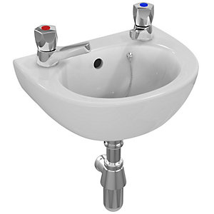 Ideal Standard Sandringham 21 Handrinse Basin 2 Tap Holes 350 x 260 mm E893001