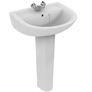 Ideal Standard Sandringham 21 Wash Basin 1 Tap Hole 550 x 460 mm E896201