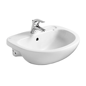 Ideal Standard Studio 56cm semi-countertop washbasin 1 taphole with overflow White E200001