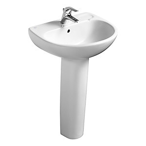 Ideal Standard Studio 56cm washbasin, 1 taphole with overflow White E108001