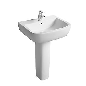 Ideal Standard Tempo 1 Tap Hole Washbasin White 600mm