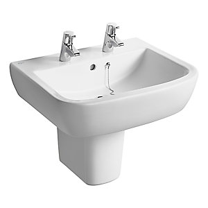 Ideal Standard Tempo 2 Tap Hole Washbasin White 600mm