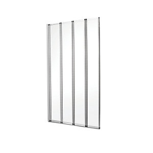 4 Fold Chrome Frame Bathscreen