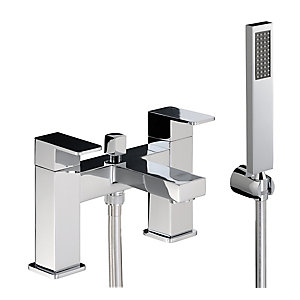 Abode Ab1251 Fervour Deck Mounted Bath Shower Mixer & Shower Handset