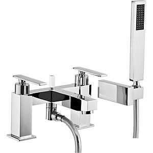 Abode Marino Deck Mounted Bath Shower Mixer with Shower Handset