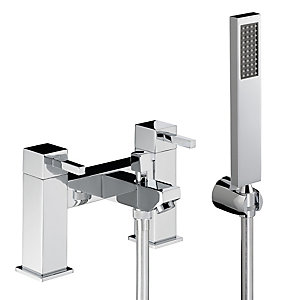 Abode Zeal Deck Mounted Bath Shower Mixer with Shower Handset AB1284