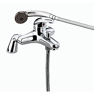 Bristan Java Pillar Bath Shower Mixer Tap With Kit 160 mm Chrome