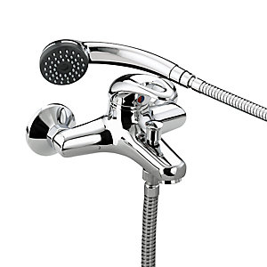 Bristan Java Wall Mounted Bath Shower Mixer Tap With Kit 210 x 130 x 175 mm Chrome
