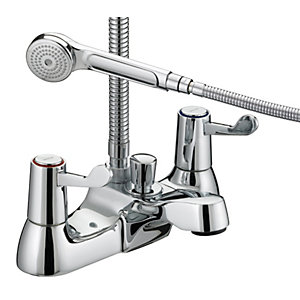 Bristan Lever Bath Shower Mixer Tap with 3 Inch Levers Chrome