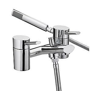 Bristan Oval Bath Shower Mixer Tap 103mm Chrome