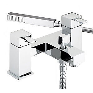 Bristan Quadrato Bath Shower Mixer Tap & Kit Chrome