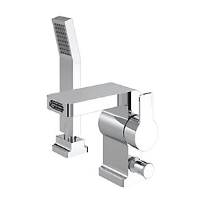 Elvira Two Hole Bath Shower Mixer Chrome