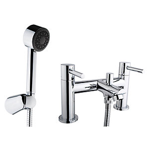 iflo Aura Bath Shower Mixer Tap Chrome