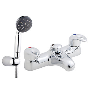 iflo Bilbao Bath Shower Mixer Tap Brass