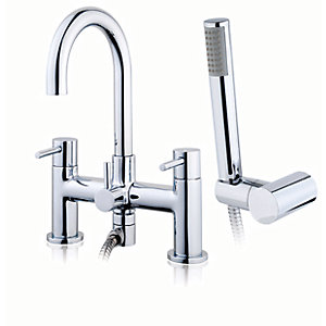 iflo Heavea Bath Shower Mixer Tap Brass