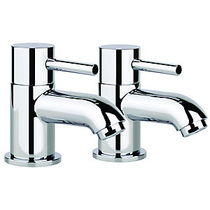 Abode Harmonie Bath Pillar Taps Chrome