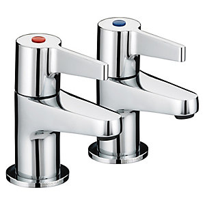 Bristan Design Utility Lever Bath Taps Chrome