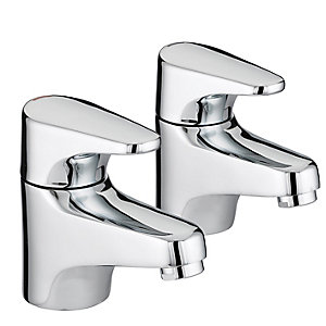 Bristan Jute Bath Pillar Taps Chrome