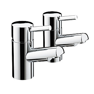 Bristan Prism Bath Pillar Taps Chrome