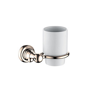 Bristan 1901 Tumbler and Holder Brass Gold Plated