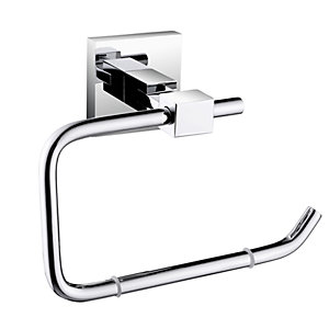 Bristan Square Toilet Roll Holder Brass Chrome Plated