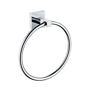 Bristan Square Towel Ring Brass Chrome Plated