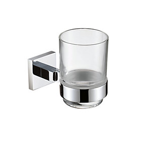 Bristan Square Tumbler and Holder Brass Chrome Plated