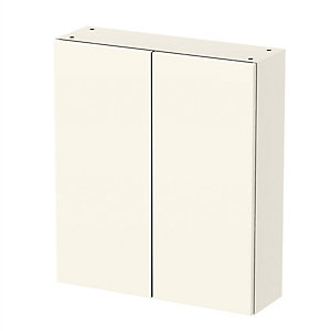 Be Modern Atlanta Cream Gloss Standard Tall Wall Unit 700 mm - Cabinet Only