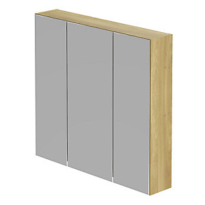Be Modern Atlanta Modular Storage Unit Odessa Oak 700 x 750 x 150 mm (3 Mirror Door) MU75ODEODE