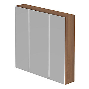 Be Modern Atlanta Modular Storage Unit Walnut 700 x 750 x 150 mm (3 Mirror Door) MU75WAL
