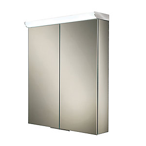 HIB Flare LED Illuminated Cabinet with Mirrored Sides W600 x H700 x D150mm