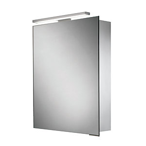 HIB Proton LED Illuminated Aluminium Cabinet W500 x H700/720 x D125mm