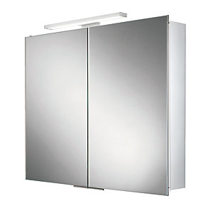 Hib 44500 Neutron Led Illuminated Aluminium Cabinet W600xH700/720xD125mm