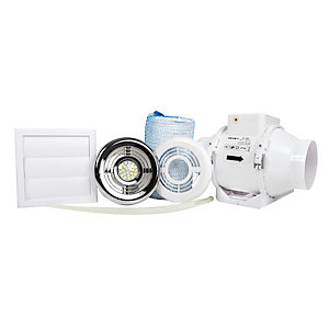 Aventa 100mm In Line Shower Kit With Timer and Light