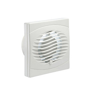 Manrose BVF100P 100mm Pull Cord Budget Toilet & Bathroom Axial Fan