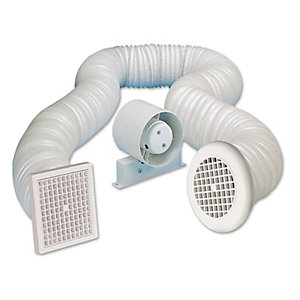 Manrose In-Line Axial Shower Fan Kit with Timer VSF100T