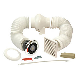 Manrose Ledslcfdtcn Inline Centrifugal Showerlite Fan Kit - Warm White Lamp