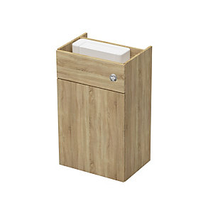 Be Modern 600mm WC Fitted Unit Including Cistern - Nat Oak