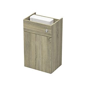 Be Modern 600mm WC Fitted Unit Including Cistern - Truff Oak