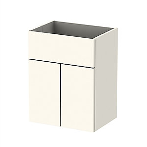 Be Modern Cream Gloss Standard Counter Top Unit 500 mm - Cabinet Only