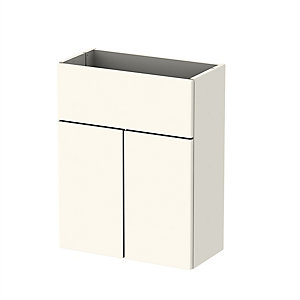 Be Modern Pescara Premium Cream Gloss Slimline Counter Top Unit 500 mm - Cabinet Only