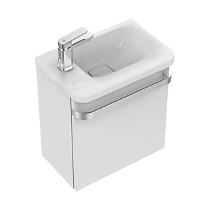 Ideal Standard Tonic II Basin Unit 450mm Left Hand Door - Gloss White