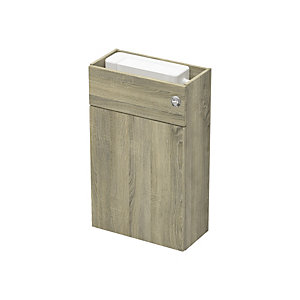 Slim 500mm WC Fitted Unit Including Cistern - Truf Oak