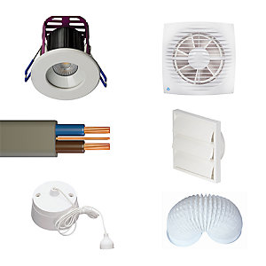 Bathroom Lighting & Ventilation Installation Pack
