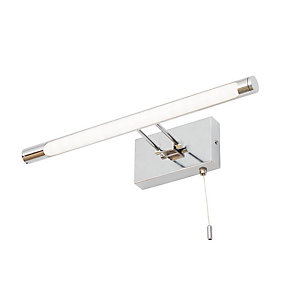 Bathroom Over Mirror Chrome Wall Light - IP44 Rated