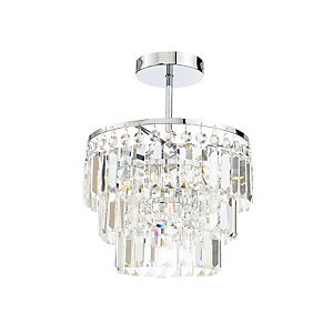 Belle 3 Light Chrome Ceiling Light - IP44 Rated